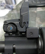 YHM-230 Gas Block Riser Insatlled on a CMMG SIERRA with MAGPUL MBUS SIGHTS