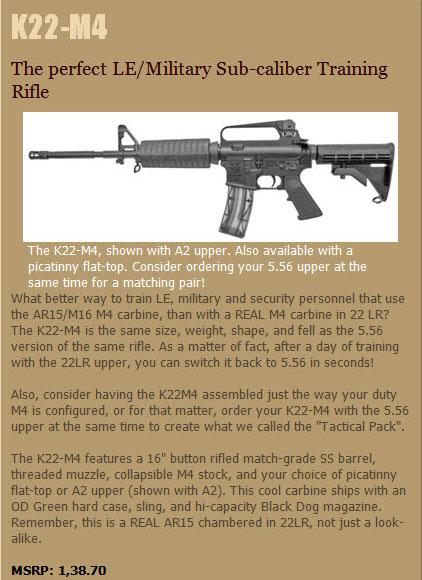 Tactical22 net - Olympic Arms K22  22LR AR-15 Rifles