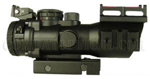 4X32 TACTICAL SCOPE WITH FIBER OPTIC SIGHT
