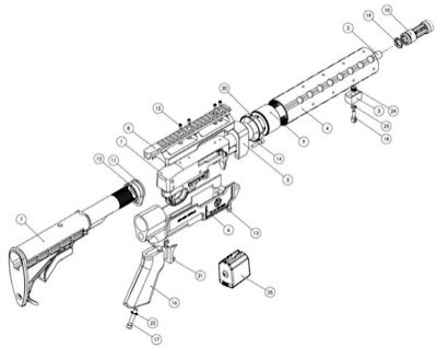 AR-15 Exploded-View